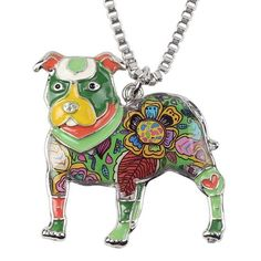 Pit Bull Dog Pendant Necklace
