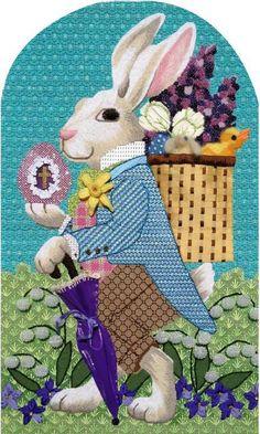 Easter Bunny Needlepoint