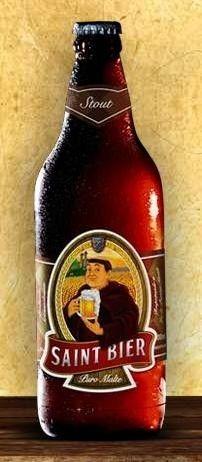 Cerveja Saint Bier Stout, estilo Sweet Stout, produzida por Saint Bier Cervejaria, Brasil. 6% ABV de álcool.