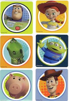 30 Toy Story Stickers, Party Favors, 2.5""