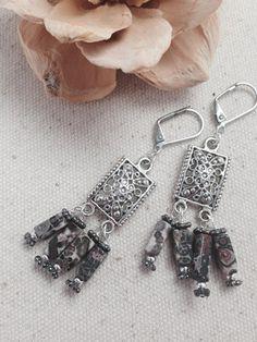 Beaded Pendant Earrings #103