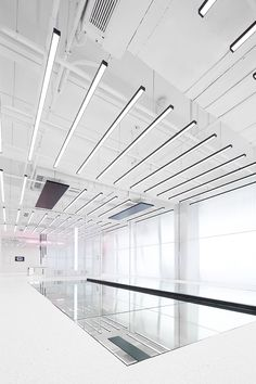 Interactive installation 'Walk The Line' Retail Interior, Office Interior Design, Office Interiors, Interactive Installation, Glass Installation, Clothing Store Design, Office Ceiling, Glass Museum, Canopy Lights