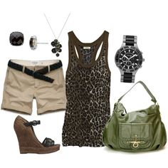 Summer Leopard, created by fleurdelove on Polyvore