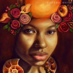 "Detail from ""Gemini"" by Sheeba Maya"