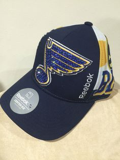 A personal favorite from my Etsy shop https://www.etsy.com/listing/386523204/st-louis-blues-hockey-hat