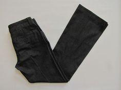 "Express Editor Denim Jeans Pants 2 R Light Black Trouser Flare leg Stretch 33"" #Express #DressPants"