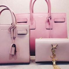Saint Laurent pretty in pink Luxury Bags, Luxury Handbags, Fashion Handbags, Purses And Handbags, Fashion Bags, Pink Purses, Ysl Handbags, Lover Fashion, Guess Handbags