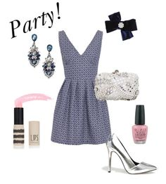 SHOP THE LOOK:  Wolf and Whistle Dress, Miss Selfridge Clutch Bag, Asos Pointed Heels, H&M Ear-Rings, Miss Selfridge Navy Bow, O.P.I Nail Varnish, Topshop Lipstick