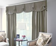 Casual fabric valance, pleated valance, kitchen valance
