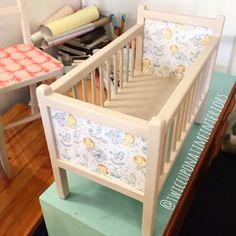 Upcycled vintage toy cot