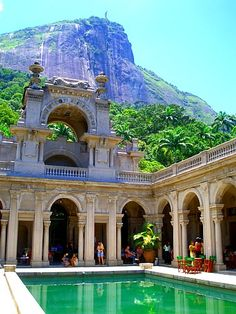 Parque Lage with Corcovado in the background, Rio de Janeiro Brazil. When I visit Lu Places Around The World, Oh The Places You'll Go, Places To Travel, Travel Destinations, Around The Worlds, South America Destinations, South America Travel, Brasil Travel, Wonderful Places