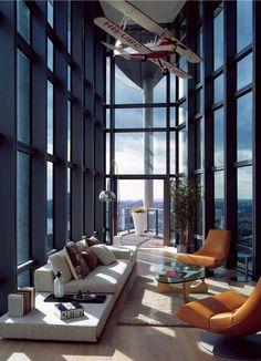 Rascacielos #Salones  #Living_room  #suelo_madera #wood_floor