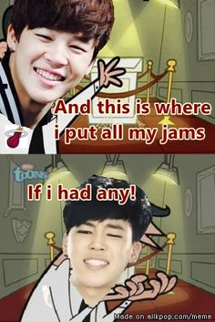 BTS Jimin got no jams.. allkpop meme center
