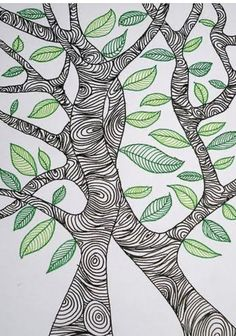32 New Ideas Drawing Ideas Trees Doodles Zentangle Patterns Zentangle Drawings, Doodles Zentangles, Zentangle Patterns, Doodle Drawings, Doodle Patterns, Tangle Art, Zen Doodle, Art Plastique, Tree Art