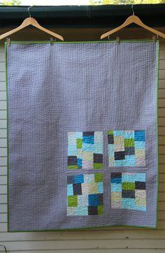 Improv baby quilt, Alissa Haight Carlson