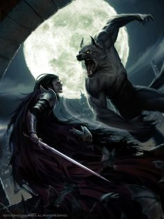 Lycan VS Vampire by Akeiron.deviantart.com on @deviantART