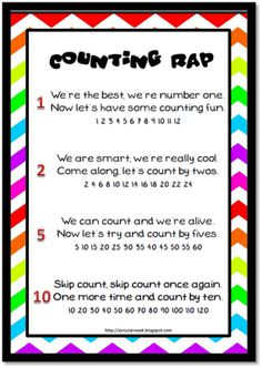 Here's a poster with a skip counting rap.