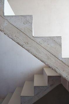 cast concrete stair