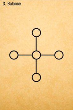 Balance Sigil Magic, Magic Symbols, Wiccan, Magick, Sacred Geometry Symbols, Triangle Art, Alphabet, Design Reference, Body Art Tattoos