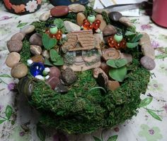 Custom Fairy Garden arrangements are available to order!
