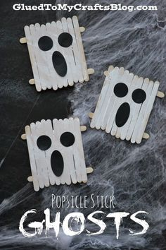 Popsicle Stick Ghosts {Kid Craft}