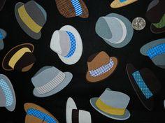 Retro Men's Hats  Fabric By The Yard por TheFabricFox en Etsy, $9.45