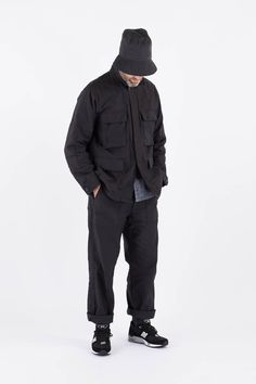Black Reversed Sateen BDU Jacket by Engineered Garments – The Bureau Belfast