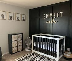 baby boy nursery room ideas 347058715035773432 - Modern Nursery For Boy In Black And White Colors ★ Colorful and simple nursery ideas for your baby or for twins to feel as comfortable and loved as possible. ★ Source by clementana Baby Bedroom, Baby Boy Rooms, Baby Room Decor, Baby Boy Nurseries, Baby Boy Nursey, Wood Bedroom, Baby Cribs, Gold Nursery, Nursery Neutral