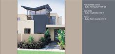 Dulux warm neutral dulux hog bristle half Exterior House Colors, Home Reno, Paint Colors, Color Schemes, Shed, Neutral, Colours, Wall, Knights