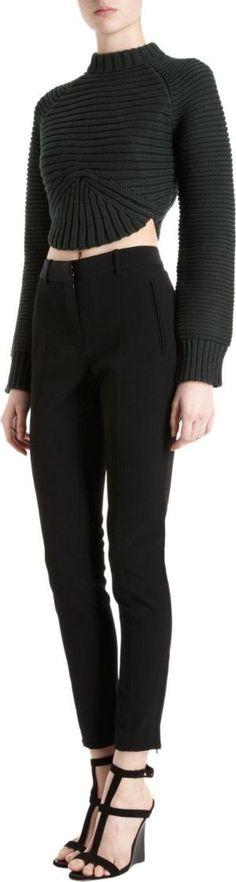 Alexander Wang Rib Knit Cropped Sweater by dollie Retouche Vetement c0a51d4d1c3