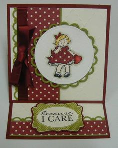 ...love the colors **** SU stamp sets: Greeting Card Kids (active), Because I care (retired)