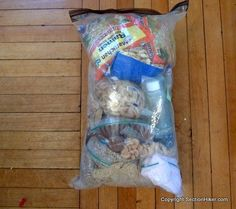 7 Days of Backpacking Food. How to pack a lot of backpacking food into a small space.