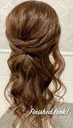 """The balance between """"done"""" and """"undone"""" is where the magic lies in hairstyling. Learn how to create this easy, textured style with me. Easy Hairstyles For Long Hair, Bride Hairstyles, Hairstyles For Weddings Bridesmaid, Curly Wedding Hairstyles, 1800s Hairstyles, Curly Hair Dos, Pageant Hairstyles, Short Hair, Half Updo Hairstyles"""