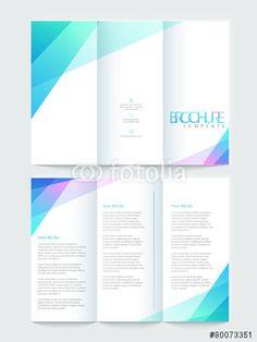 ベクター: Tri-fold brochure, template or flyer design for business.点