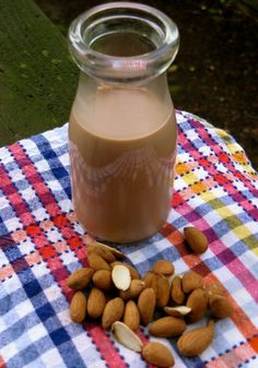 Creamy, thick and subtly sweet homemade chocolate almond milk