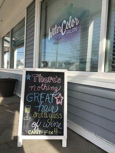 Hair salon humor, chalkboard art, boutique salon in CT