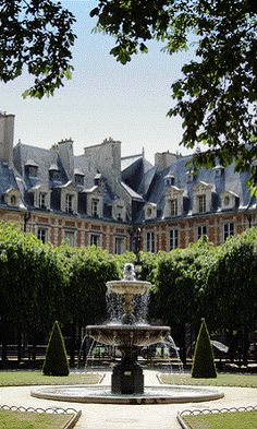 Le Marais, Place des Vosges, Paris. Spent many a fun filled day chilling out here! Memories!!
