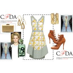 Gold and Yellow, created by mimi-gan on Polyvore