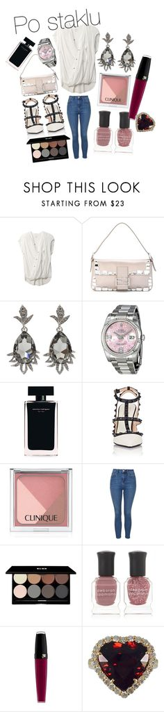 """Unbenannt #435"" by mksugarbunny ❤ liked on Polyvore featuring Helmut Lang, Fendi, Oscar de la Renta, Rolex, Narciso Rodriguez, Valentino, Clinique, Topshop, Edward Bess and Deborah Lippmann"