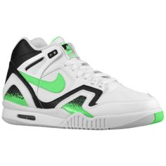 Nike Air Tech Challenge II - Men's - White/Black/Light Ash Grey/Poison Green