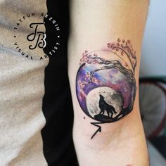 lonely-wolf-tattoo-watercolor-style-Tayfun-Bezgin-11.jpg (840×840)
