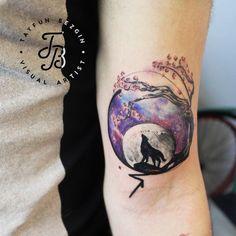 lonely-wolf-tattoo-watercolor-style-Tayfun-Bezgin-11.jpg (840×840)