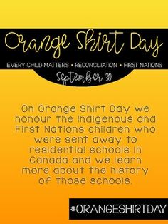 Aboriginal Education, Indigenous Education, Matter Activities, Every Child Matters, Residential Schools, Teacher Thank You, Primary Classroom, Orange Shirt, Upper Elementary