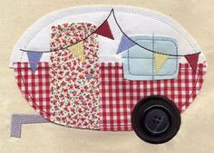 Camper Applique for machine or hand embroidery.