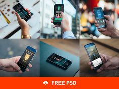 6 Free photorealistic iPhone 6 mockups by COBE