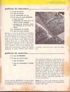 Recetario Maicena - Piper Pérez - Álbumes web de Picasa