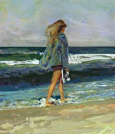 by Yizheng Ke on ArtStation. Painting People, Figure Painting, Painting & Drawing, Portrait Art, Portraits, Ocean Art, Light Painting, Beauty Art, Female Art