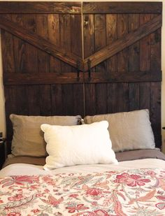 Handmade Cedar Barn Door Headboard by MaddensCloset on Etsy