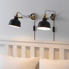 RANARP Wall/clamp spotlight with LED bulb IKEA The lamp can be mounted in two ways: as a clamp spotlight or as a wall lamp. Bedroom Light Fixtures, Bedroom Lighting, Cube Ikea, Spot Mural, Clear Light Bulbs, Wall Spotlights, Work Lamp, Paint Shades, Lights