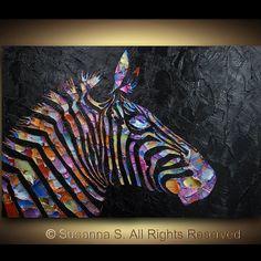 Original Pop Art Large abstract contemporary by ModernHouseArt